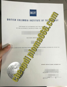 fake British Columbia Institute of Technology diploma