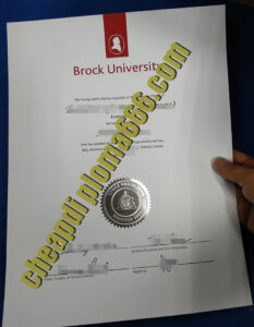 buy Brock University degree certificate