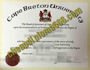 buy Cape Breton University degree certificate