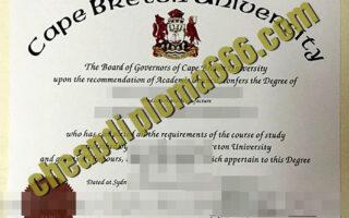 buy Cape Breton University degree certificate
