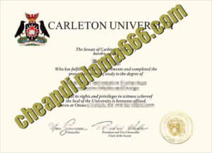fake Carleton University transcript
