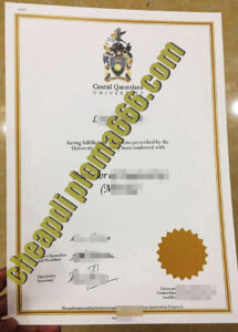 Central Queensland University fake degree certificate