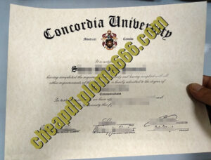 buy Concordia University degree certificate