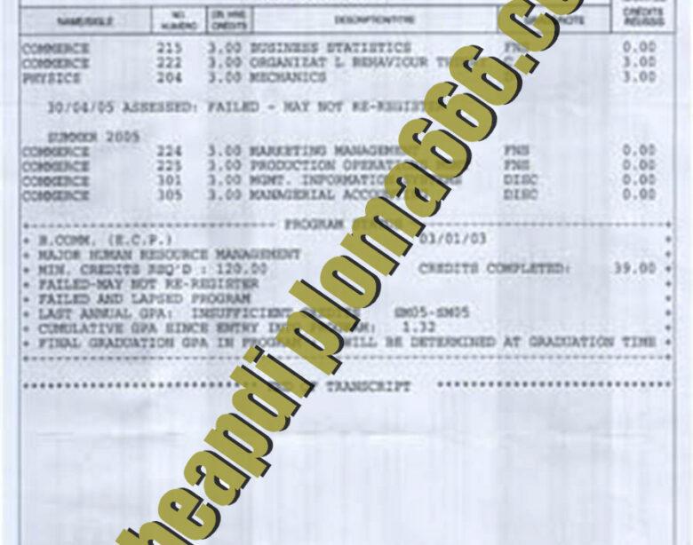 buy Concordia University transcript
