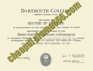 buy Dartmouth College degree certificate