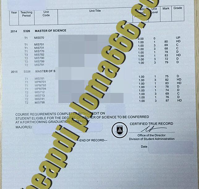 fake Deakin University transcript