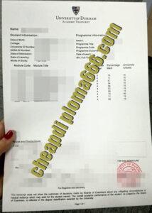 fake Durham University transcript