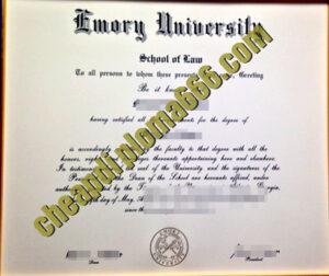 fake Emory University diploma
