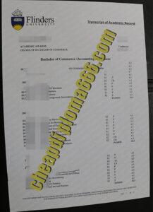 Flinders University fake transcript