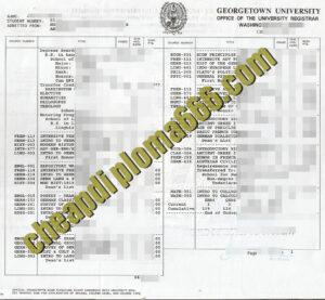 fake Georgetown University transcript