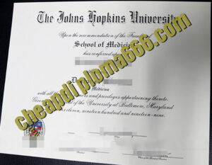 fake Johns Hopkins University degree certificate