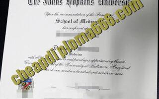 fake Johns Hopkins University degree certificate