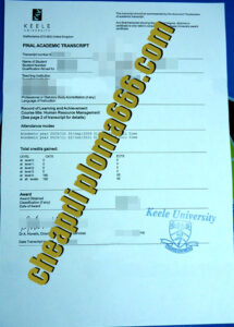 Keele University fake transcript