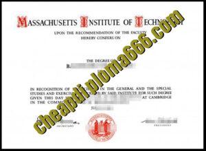 buy Massachusetts Institute of Technology degree certificate
