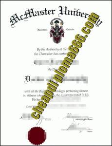 McMaster University fake degree certificate