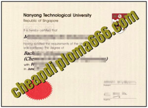 fake Nanyang Technological University degree certificate