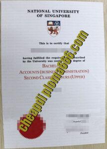 fake National University of Singapore degree certificate