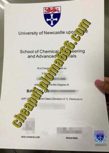 Newcastle University fake degree certificate