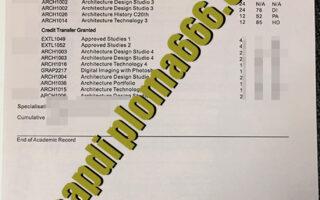 RMIT University fake transcript