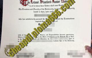 Stanford University degree certificate
