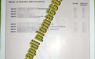 fake Swinburne University of Technology transcript