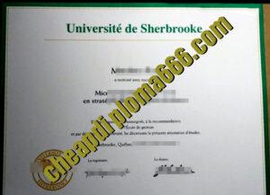 fake Université de Sherbrooke degree certificate