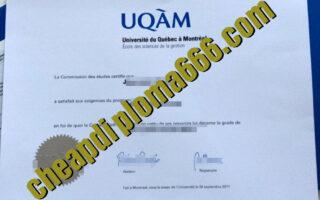 fake Université du Québec à Montréal diploma
