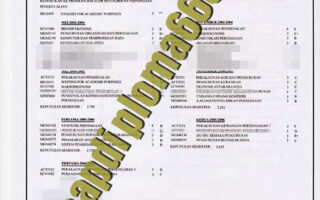 buy University Putra Malaysia transcript