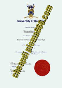 fake University of Ballarat degree certificate
