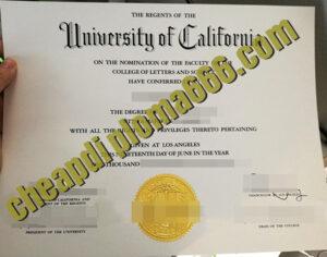 fake University of California, Los Angeles degree certificate
