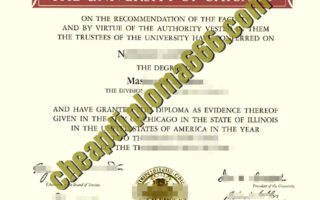 fake University of Chicago degree certificate