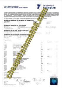buy University of Nottingham transcript