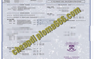 buy University of Pennsylvania transcript