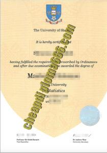University of Sheffield fake degree certificate