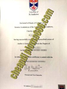 buy University of St Andrews degree certificate