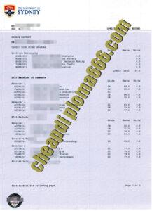University of Sydney fake transcript