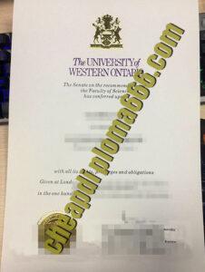 fake University of Western Ontario diploma