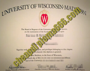 University of Wisconsin–Madison degree certificate