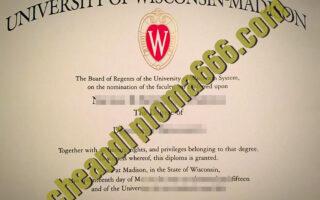 University of Wisconsin–Madison degree certificate