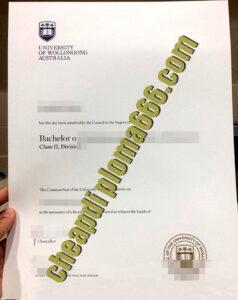 buy University of Wollongong degree certificate