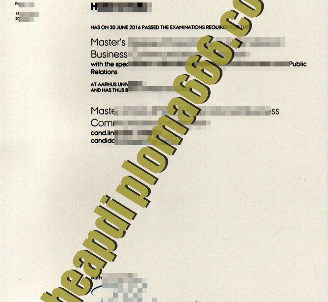 buy Aarhus University degree certificate