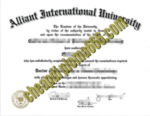 buy Alliant International University degree certificate