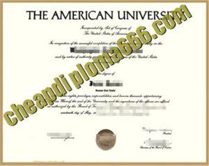 buy American University degree certificate