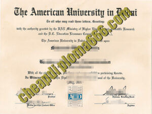 buy American University in Dubai degree certificate