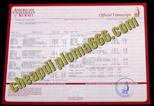 buy American University of Kuwait transcript