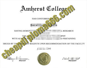 buy Amherst College degree certificate