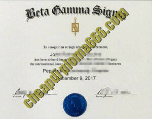 buy Beta Gamma Sigma degree certificate