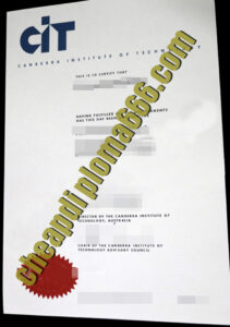 Canberra Institute of Technology degree certificate