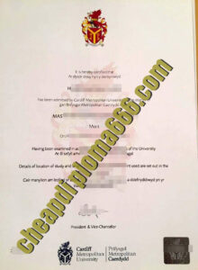 buy Cardiff Metropolitan University degree certificate