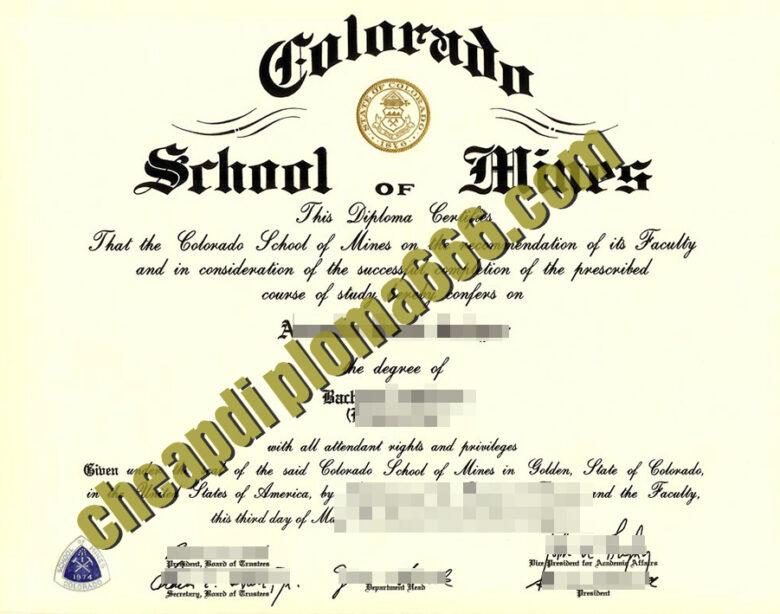 buy Colorado School of Mines degree certificate